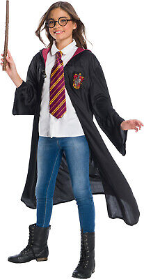Cosplay For Children (Rubies Harry Potter Costume Robe Cloak Cape w/Tie+Wand for Kid Halloween)
