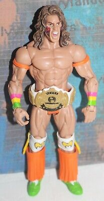 WWE The Ultimate Warrior Mattel Basic WWF Action Figure Then Now Forever
