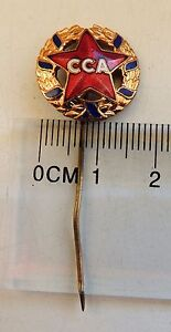 CCA STEAUA BUCHAREST football CLUB very old badge pin anstecknadel 50s last cent - Solec Kujawski, Polska - CCA STEAUA BUCHAREST football CLUB very old badge pin anstecknadel 50s last cent - Solec Kujawski, Polska