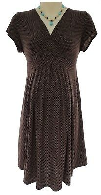 Size Medium SEXY Womens CHOCOLATE MATERNITY DRESS Summer Baby Shower Pea in Pod