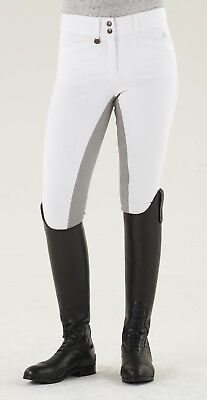 Ovation Celebrity Slim Secret EuroWeave DX Front Zip Full Seat Breeches - White
