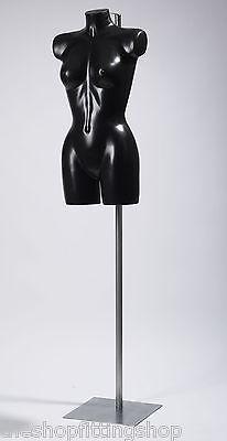 Negro Mujer Ropa Interior Modelo En Metal Soporte Boda Vestidos Natación Trajes