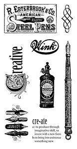 Graphic45-Cling-Stamps-TYPOGRAPHY-2-scrapbooking-SET-OF-8-RETIRED