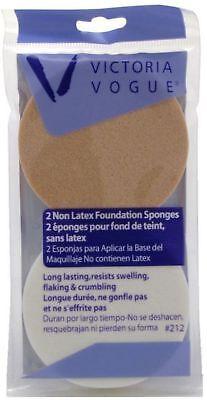 Victoria Vogue Non-Latex Foundation Round Sponge 2 ea