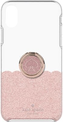 Pink Transparent Ring - kate spade new york Case + Stability Ring Apple iPhone XS Max Rose Gold Glitter
