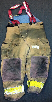 42x28 Pants With Suspenders Firefighter Turnout Bunker Fire Gear Globe P721