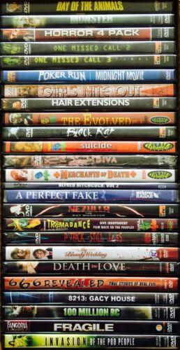 Wholesale Lot of 30 Assorted Random New DVD Horror Sci Fi Grab Bag No Duplicates