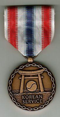 U.s.merchant Marine Medal Mini Size - Korean Service Nip:k6