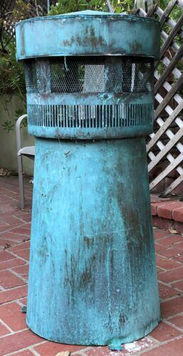 Chimney Pot 100% Copper Weathered Patina