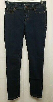 Maurices Women's Dark Denim Skinny Stretch Jeggings Size: Small - Short Shorts Dark Denim