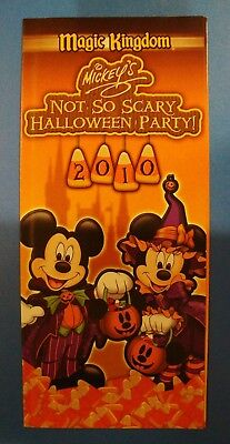 Mickey's Not-So-Scary Halloween Party Brochure 2010 Magic Kingdom W Disney World