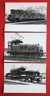 3 x Foto Eisenbahn Gotthardlokomotive, Rangierlok und Güterzuglokomotive ( 23780