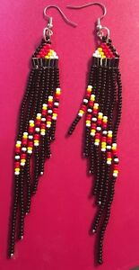 Authentic Handmade Beaded Fringe Earrings