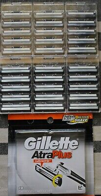 Gillette Atra Plus Refill Razor Blade Mens 30 Count Cartridges, Bulk Free Ship Atra Plus Refill Cartridges
