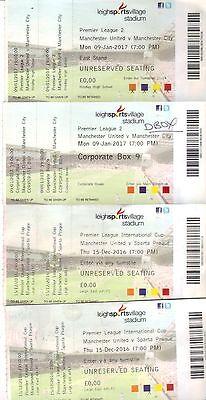 Manchester United Reserves x 6- Set 1 - Sparta Prague - Middlesbrough - Man City