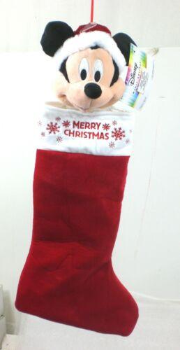 "Disney Big Head 3D  21"" Mickey Mouse Merry Christmas Stocking #2127450"