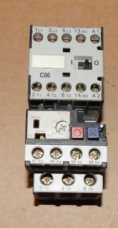 Advance Controls C06 Starter 16A Contactor W/Thermal Overload Relay 130273 86Y