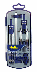 HELIX TECHNICAL PRECISION DRAWING SET Inc.Thumbwheel Compass & Techn