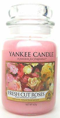 Yankee Candle Fresh Cut Roses 22 oz./ 623 gr.Large Jar.Brand New