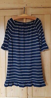 NEU! WUNDERSCHÖNES  SOMMER  STRETCH KLEID  - Marine Kleid Blau