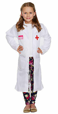 Childs Girls Doctor Fancy Dress Kids Dressing Up World Book Day Outfit 4-9 yrs  - Girls Dressing Up Dresses