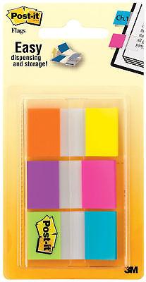 3m Post It Flags .94 X 1.7 24mm X 43.2mm Writable Color Coding 6 Colors 60pk