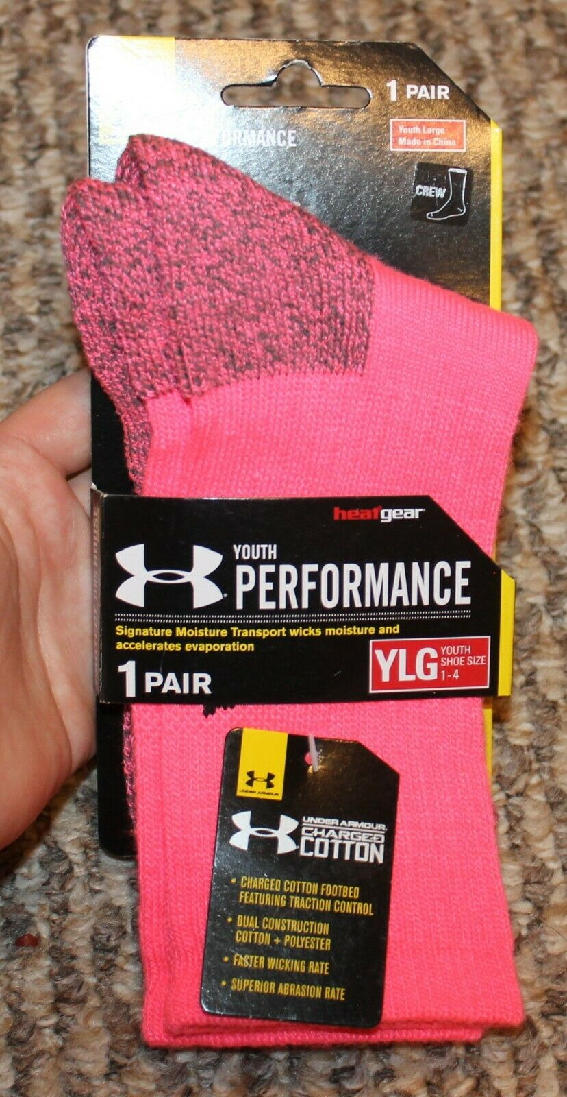 New! Girls Under Armour Socks  - Sock Size Large