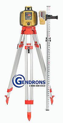 Topcon Rl-h4c Self-leveling Rotary Slope Laser Level Tripod Inches Grade Rod