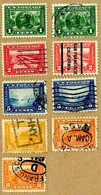 US Scott#397-404 Complete perf 12 and perf 10 Panama-Pacific nicely centered set