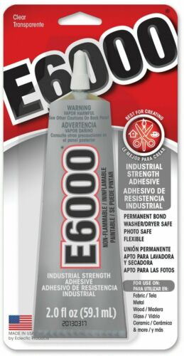 E6000 ADHESIVE 2.0OZ TUBE CLEAR GLUE CRAFT DIY PROJECTS FAST SHIPPING!!!