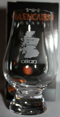 "OBAN ""A TASTE OF THE HIGHLANDS"" GLENCAIRN SCOTCH MALT WHISKY TASTING GLASS"