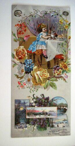"RARE Large 1880 Victorian Trade Card ""Great Atlantic & Pacific Tea Co."""