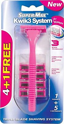 WOMENS Triple Blade Sensitive Disposable Razor Quality Best Shave 5