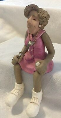Woman Golfer Sitting Figurine J. Manning Ltd Edition Decor Golf Gift