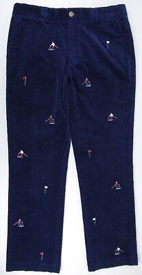 Vineyard Vines NWT Breaker Navy Blue Slim Fit Corduroy Ski Pants Men's 32 x 30 Navy Blue Corduroy Pants