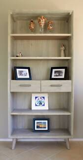 Bookcase - Seattle Grey Stain Solid Wood