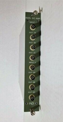 Nuclear Data Inc. 82-0758 Dual DC Amplifier