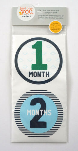 CARTERS Just One You Baby Milestone Growth 12 Month Photo Stickers Set NEW