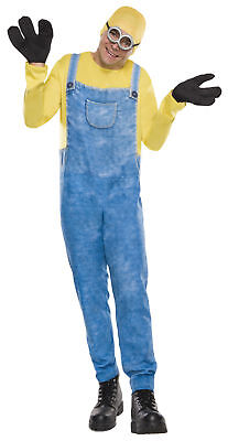 Minion Bob Adult Men Costume Famous Movie Character Rubies 810463 Halloween (Halloween Costumes Famous Movie Characters)