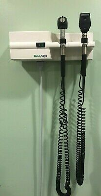Welch Allyn Diagnostic Wall Set- Otoscope Ophthalmoscope Sphygmomanometer