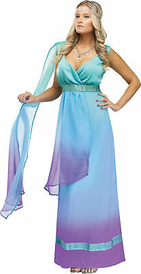 Sea Queen Adult Womens Costume Princess Blue Green Dress Theme Party - Green Themed Halloween Costumes