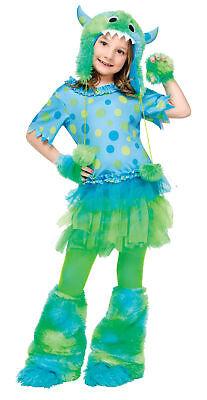 Monster Miss Child Costume Girls Animal Dress Skirt - Missing Halloween Animation