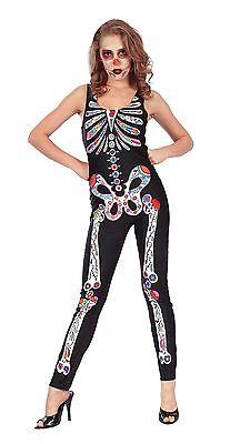 Tag der Toten Overall, Halloween, Herren-Kostüm (Herren Tag Der Toten Halloween Kostüme)