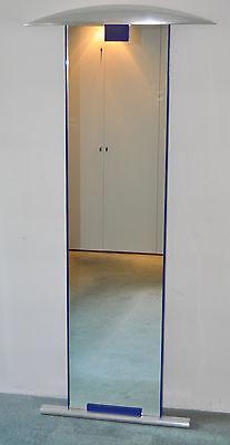 """Enrico BALERI """"Pauline"""" großer Designer-Spiegel 178x79 / 168x41 blau-silber"""