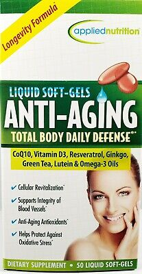 Applied Nutrition Anti-Aging Softgels, 50ct-Expiration Date 02-2021-