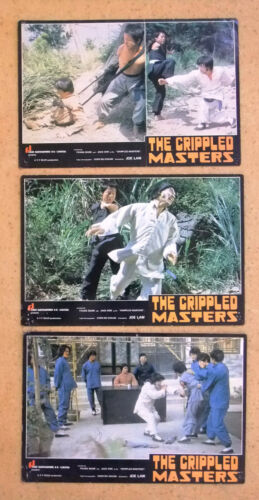 (Set of 3) The Crippled Masters Jackie Conn Kung Fu Chinese Org. Lobby Card 70s
