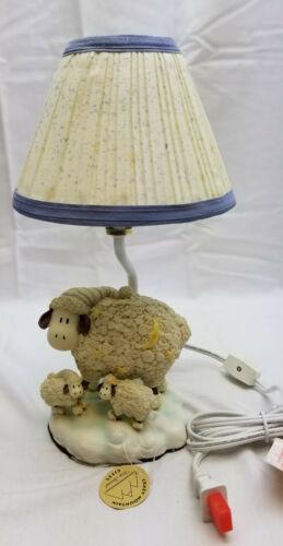 Crazy Mountain Blue Lamb Nursery Lamp