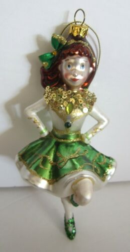 Blown Glass Young Girl Irish Dancer Holiday Heirlooms Christmas Ornament