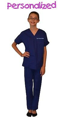 Personalized Royal Blue Kids Scrubs for little Doctors, Nurses, & Veterinarians](Personalized Scrubs For Kids)