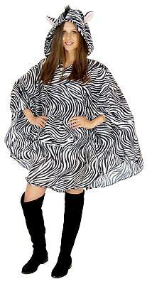 Zebra Party Poncho für Erwachsene Karneval Fasching Party - Party Kostüme Für Erwachsene